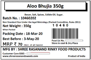 Barcode 74x50 FoodPack Label