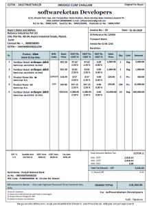 Agro Fertilizer and Chemicals Business Management Software Invoice Format Design